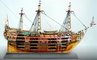 maqueta galeon maracaibo