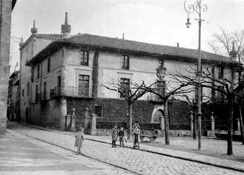 Centro de Oñati en los años 50 del siglo XX