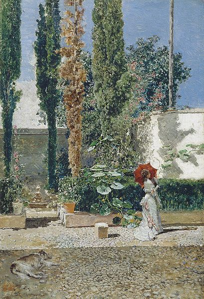 Cuadro 'Jardín de la casa de Fortuny'- Mariano Fortuny