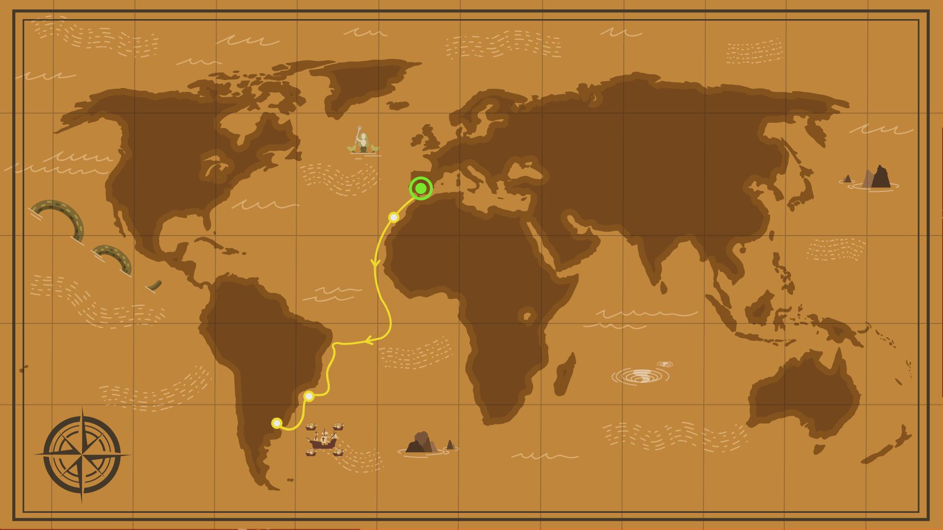 Avance de la vuelta al mundo de Magallanes y Elcano hasta enero de 1520. | Alex Miklan