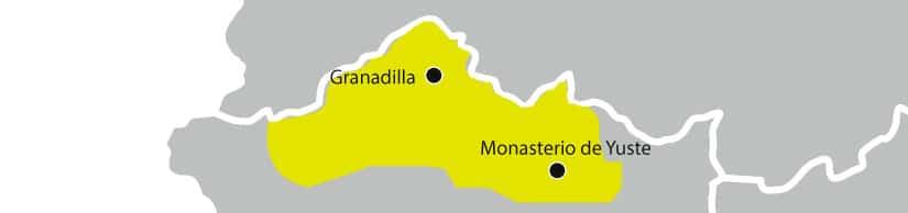 mapa denominación Aceite Gata - Hurdes