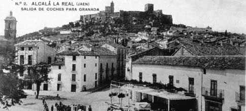 vista antigua Fortaleza de la Mota de Alcalá la Real
