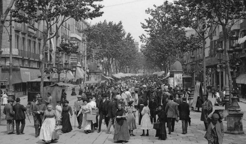 Rambla de Barcelona en el siglo XX