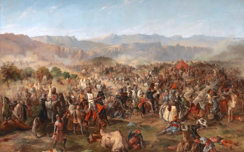 Batalla de Las Navas de Tolosa, óleo de Van Halen expuesto en el palacio del Senado