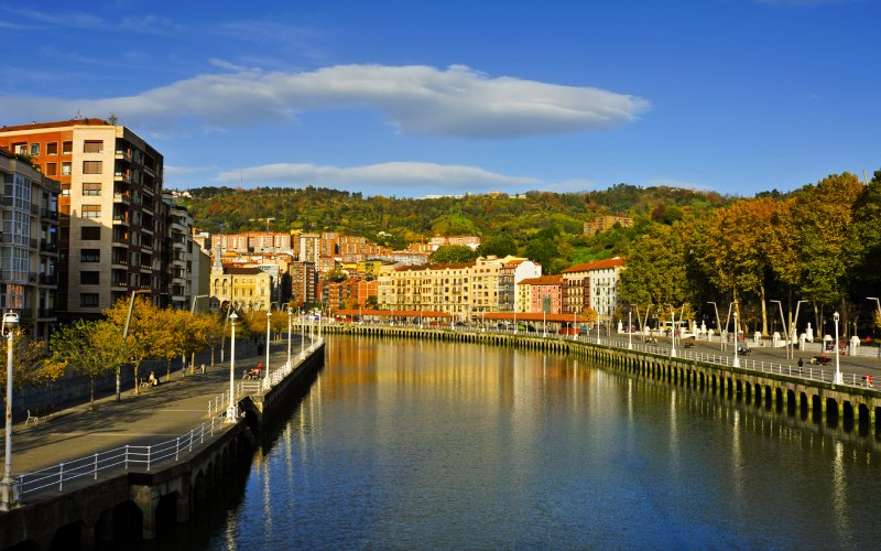 Ría del Nervión en Bilbao