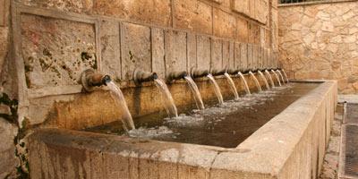 Fuente de los doce caños en Brihuega