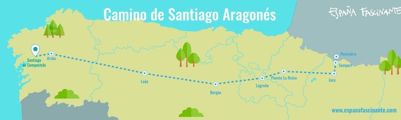 camino santiago aragones