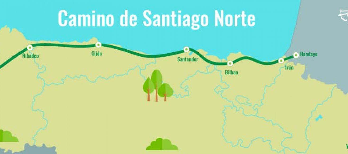 """Camino del norte (costa) a Santiago """"por acantilados y playas"""""""