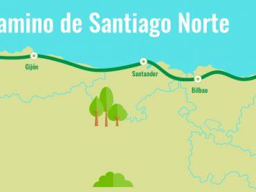 """Camino del norte (costa) a Santiago """"por acantilados y playas""""."""