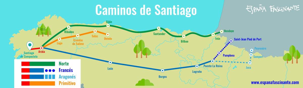 Mapa Camino de Santiago