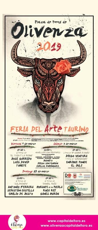 Cartel de la Feria del toro de Olivenza