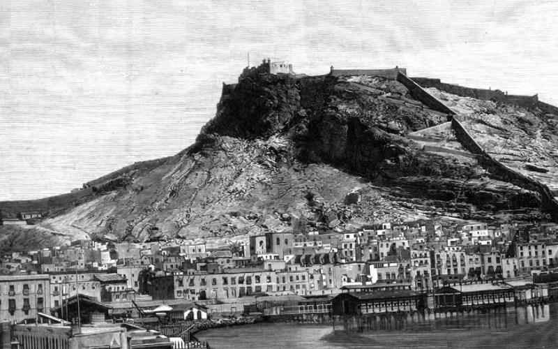 Castillo de Santa Bárbara en el siglo XIX