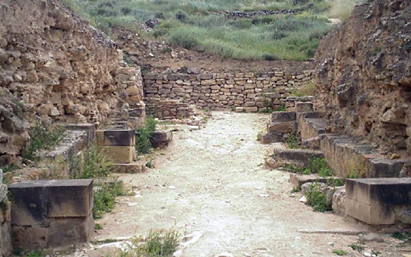Murallas de la ciudad abandonada de Contrebia Leucade