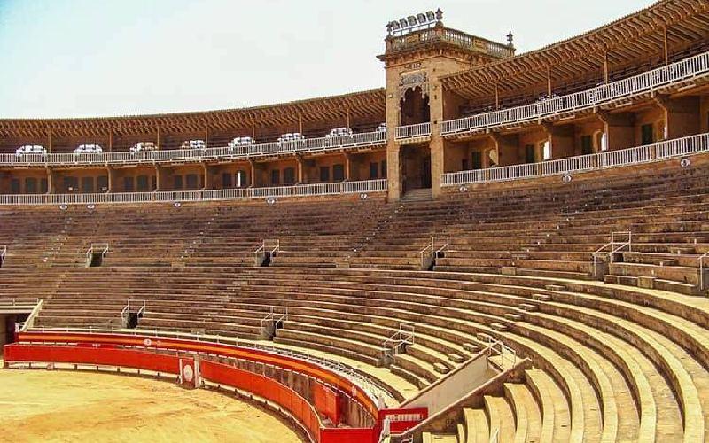 Interior de la plaza de toros de Mallorca