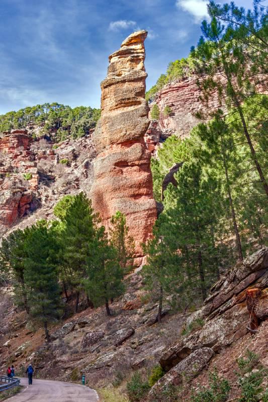 Una de las formaciones rocosas del barranco de la Hoz