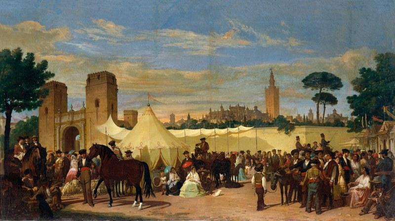 Cuadro representando la Feria de Abril en 1867
