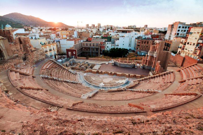 Teatro Romano de Cartagena monumentos romanos en España