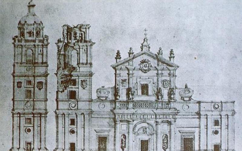 Dibujo derrumbe catedral