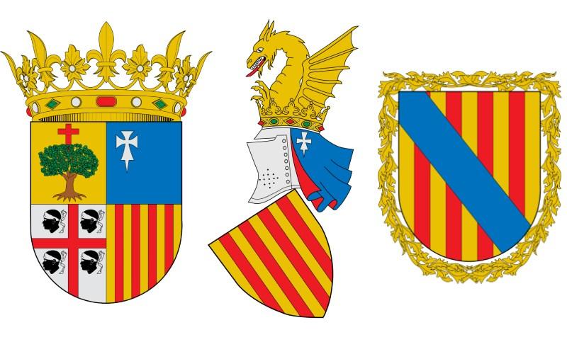 Escudos de las CC.AA. de Aragón, Valencia y Baleares