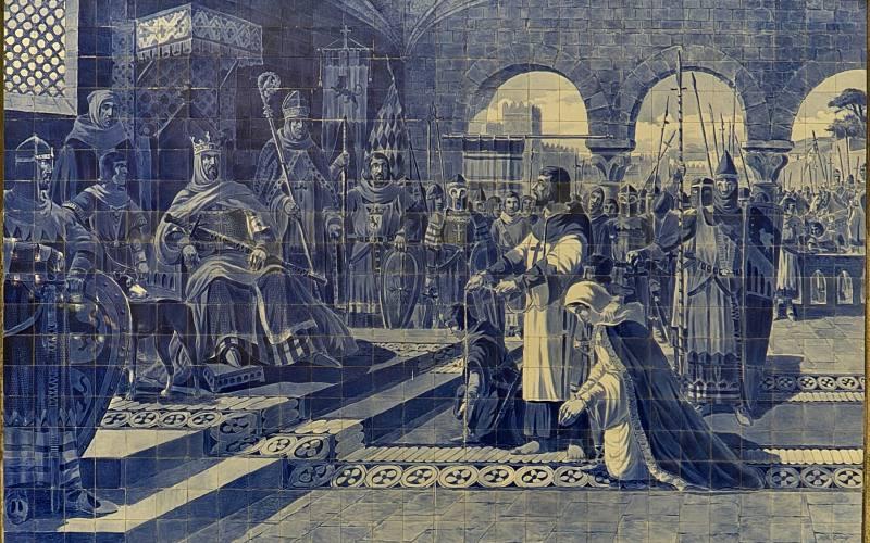 azulejo representando a Alfonso VII