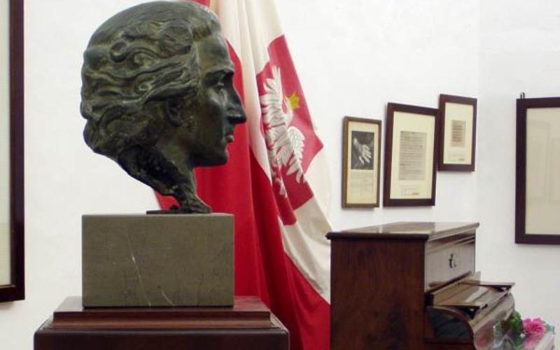 Busto de Chopin en la Cartuja de Valldemosa