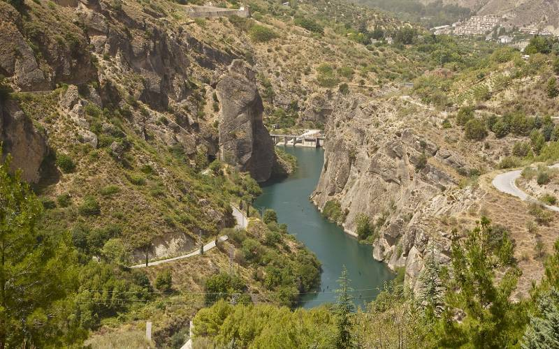 Río Genil en la sierra de Güéjar