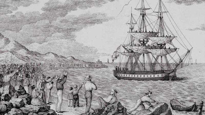 Grabado sobre la Expedición Balmis
