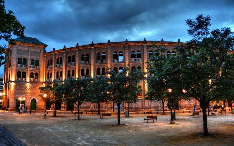 Exterior de Plaza de toros de Granada o Monumental de Frascuelo