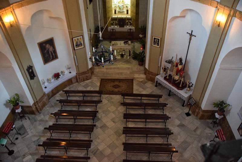 Interior de la iglesia de la Aurora