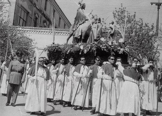 fotod¡grafía antigua semana santa caceres