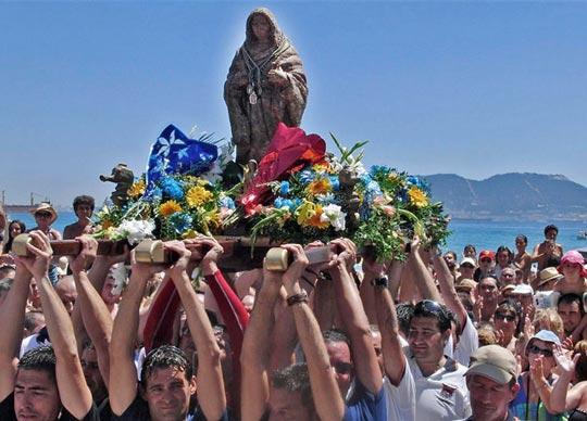 procesion virgen de la playa