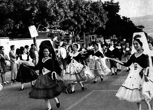 festival folclorico jaca fotografia antigua