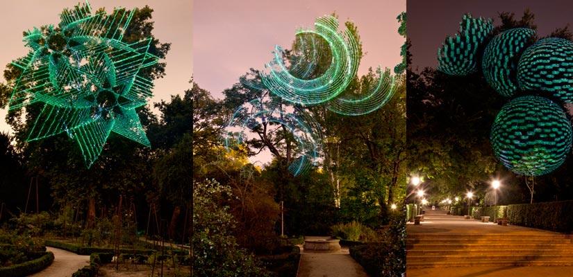 botanico luces octubre madrid