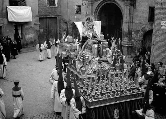 fotografia antigua semana santa aragon