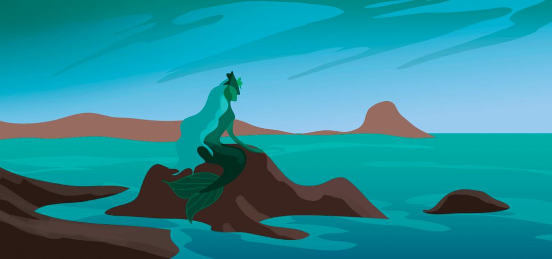 La Maruxaina mirando al mar
