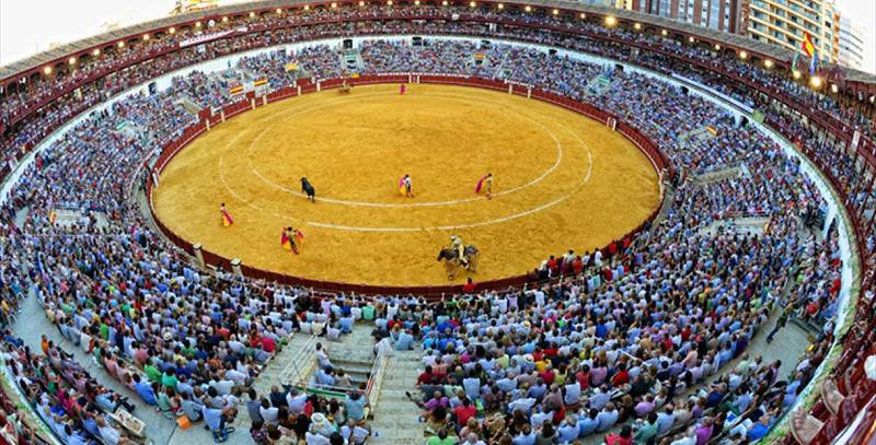 Una corrida de toros en La Malagueta