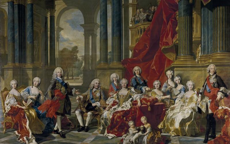 La familia de Felipe V
