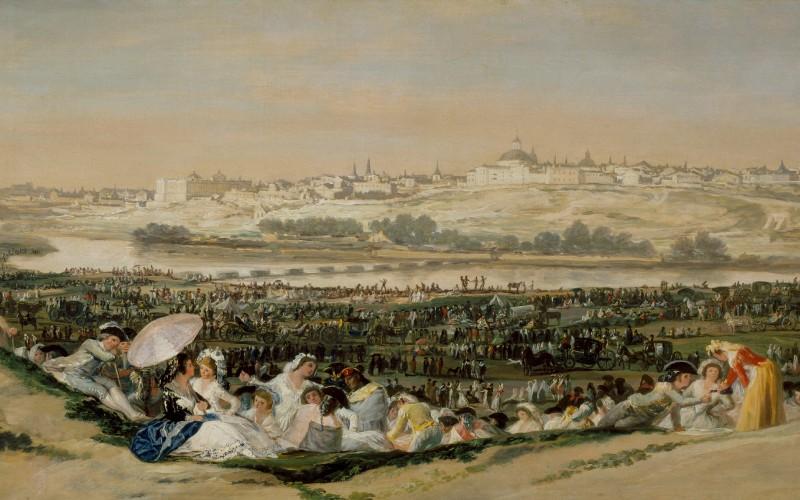 La pradera de San Isidro, de Francisco de Goya