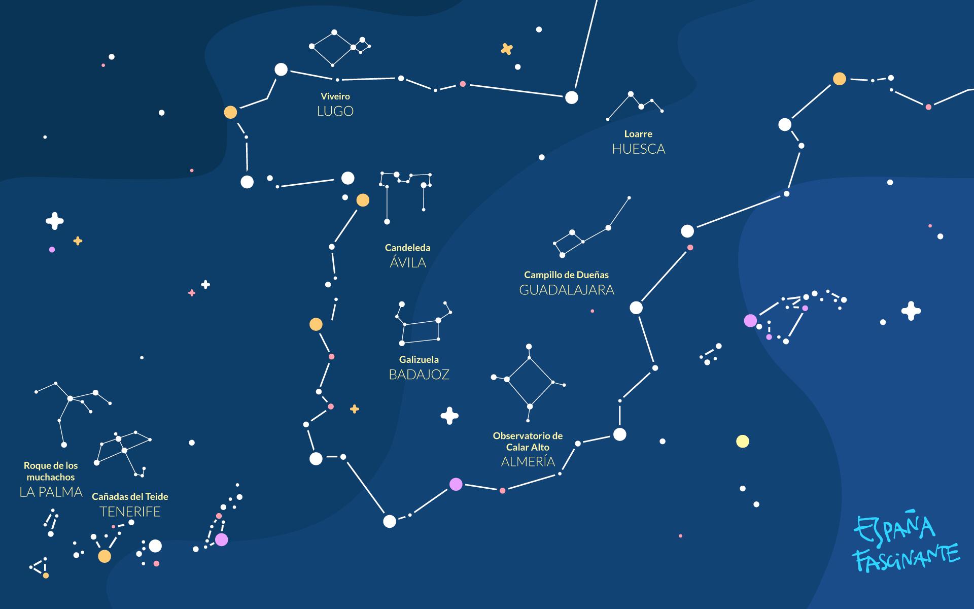 Mapa estelar de España Fascinante
