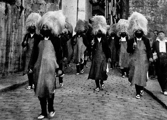 marcha de los hacheros hondarribia guipuzcoa pais vasco