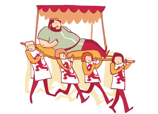 la dieta real de sancho leon el gordo