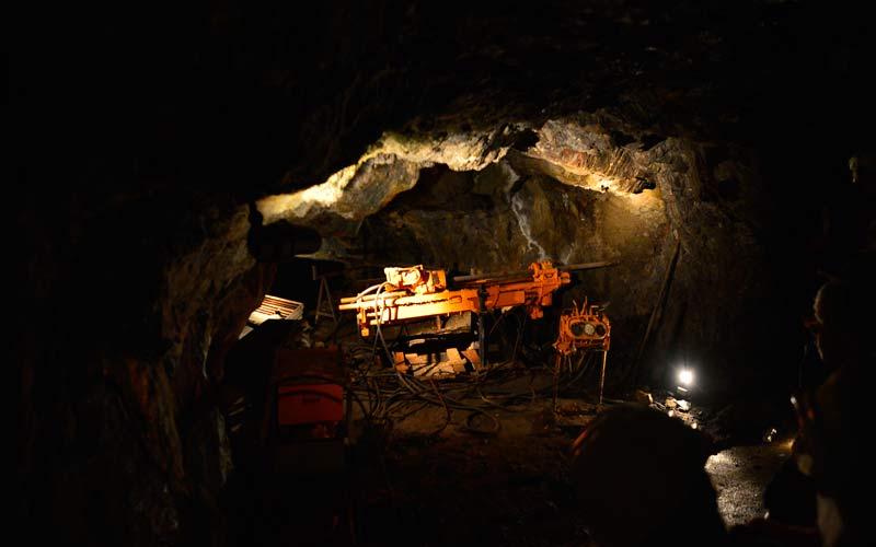 Vista subterránea de las Minas de Almadén donde se extraía Cinabrio