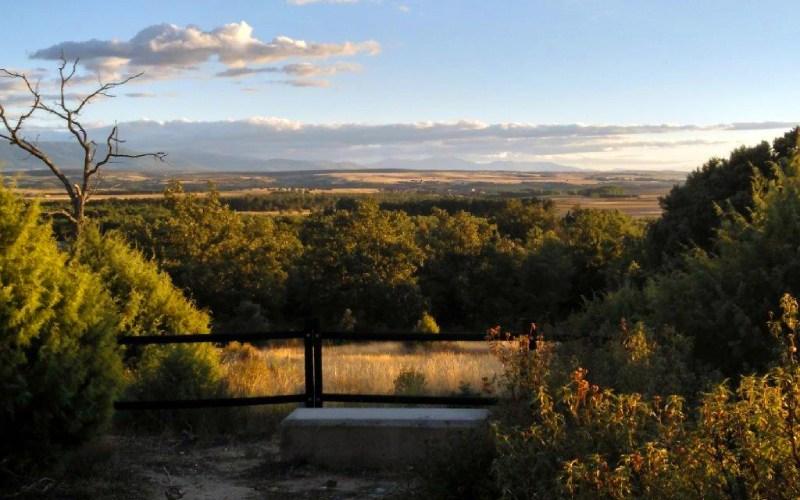 Mirador en las rutas que recorren Cantalejo
