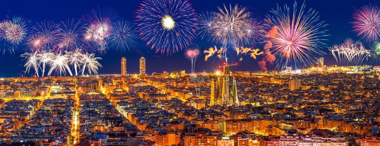 Nochevieja en Barcelona y sus fuegos artificiales