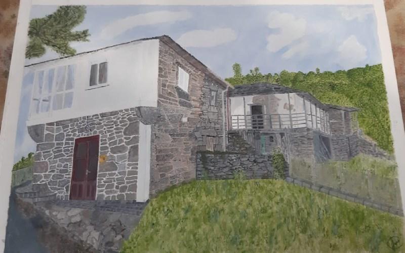Dibujo de las edificaciones de Tronceda | José María Cófreces