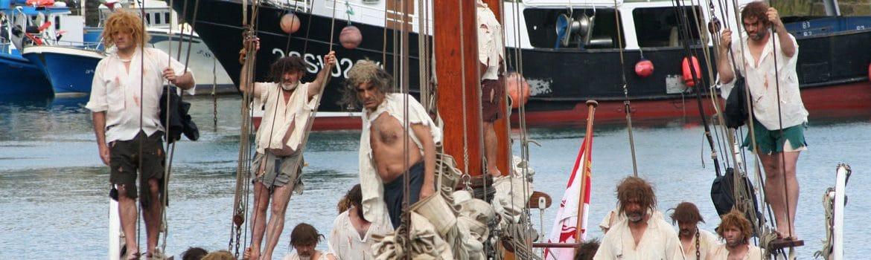 Débarquement de Juan Sebastian Elkano de Getaria