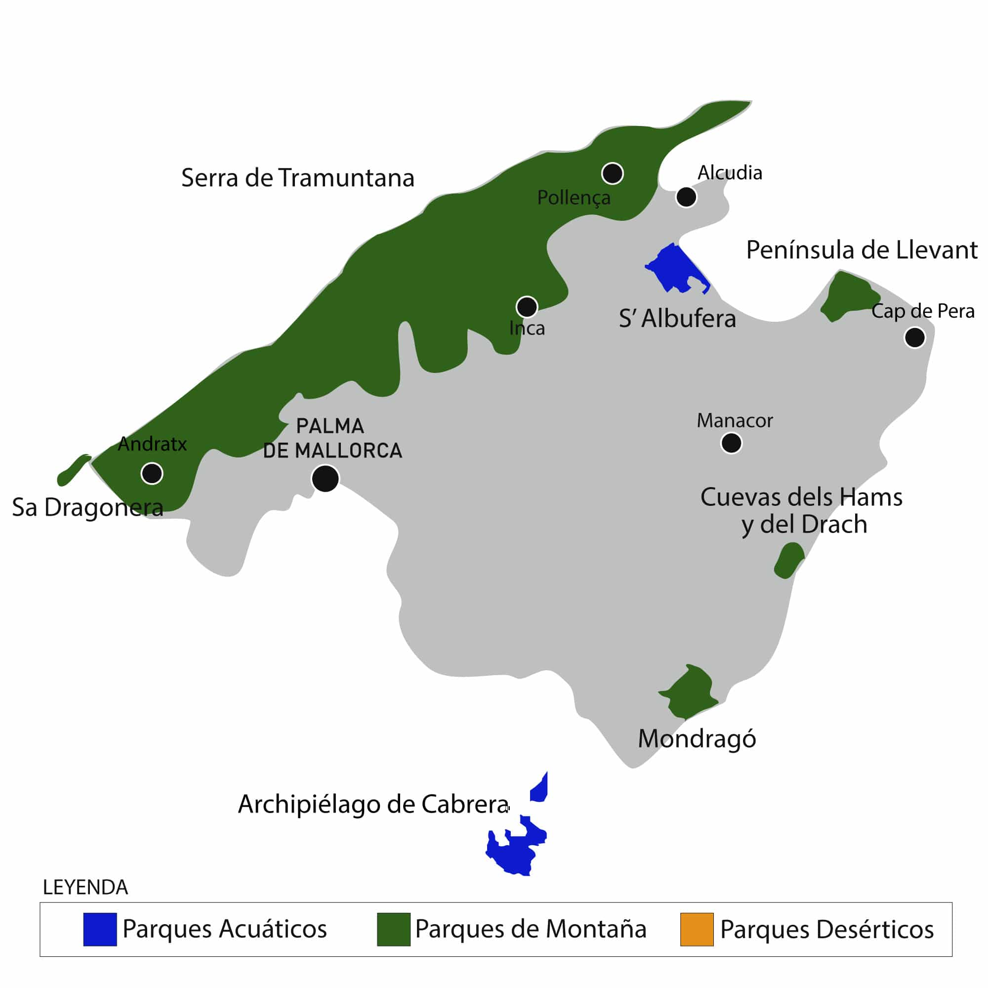 Parks in Mallorca-Aktivurlaub