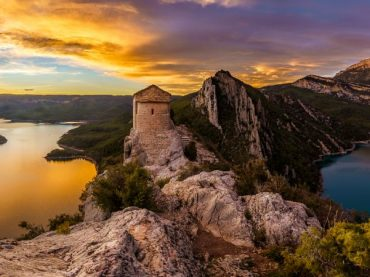 El Congost de Mont-Rebei, un desfiladero vertiginoso entre Huesca y Lleida
