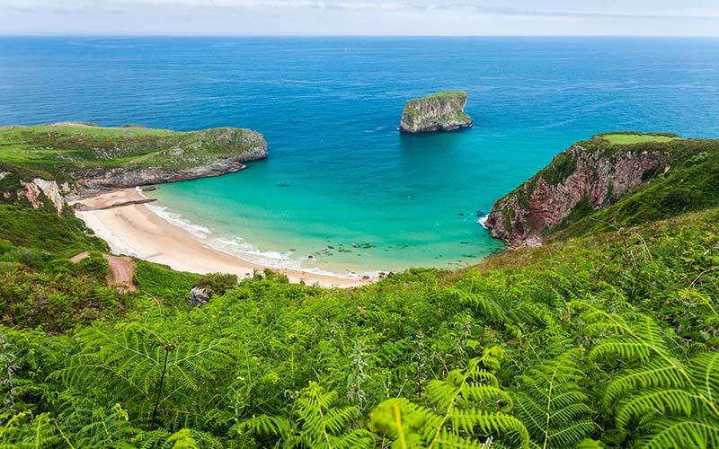 Playas de los Parques Naturales del Cantábrico