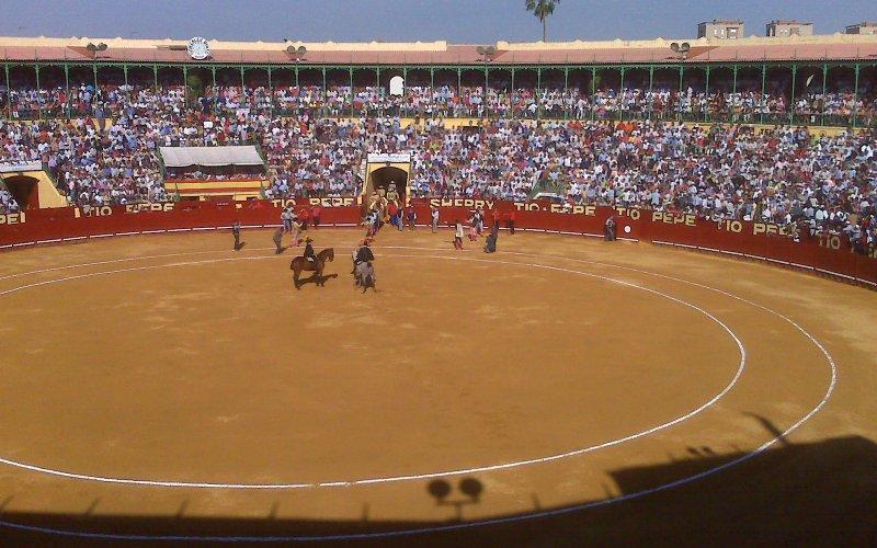 Corrida durante 2009 en la Plaza de toros de Jerez